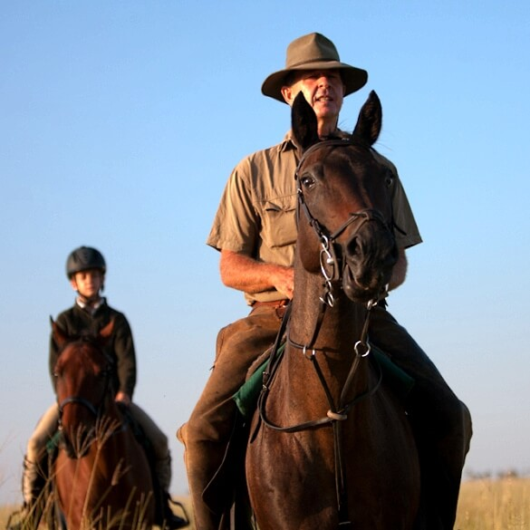 Botswana horse safari guide 1